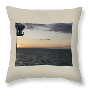 Over The Edge Photo/painting Throw Pillow