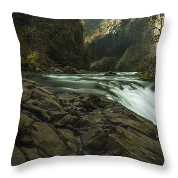 Over The Edge Signed Throw Pillow