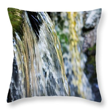 Over The Edge Visions Of Gold Throw Pillow