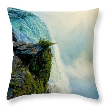 Over The Falls II Throw Pillow