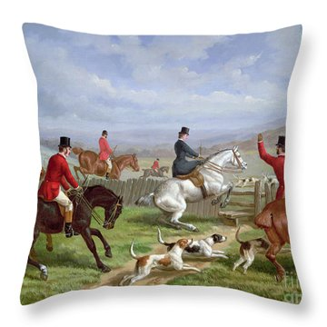 Over The Fence Throw Pillow by Edward Benjamin Herberte