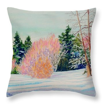 Over The Field Throw Pillow