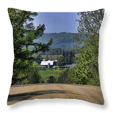 Over The Hill Throw Pillow by Jim Lepard