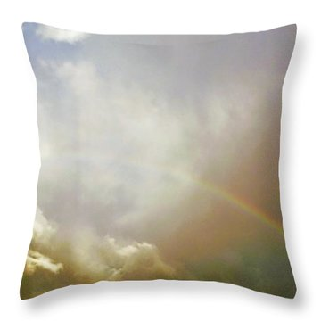 Over The Rainbow Throw Pillow by Deborah Moen