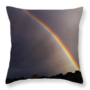 Throw Pillow featuring the photograph Over The Rainbow by Joseph Frank Baraba