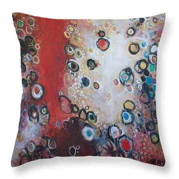 Over The Rainbow Throw Pillow by Laurie Maves ART