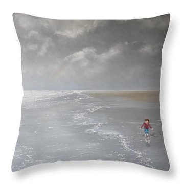Over The Rainbow Throw Pillow by Paul Newcastle