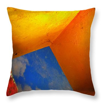Over The Rainbow Throw Pillow by Skip Hunt