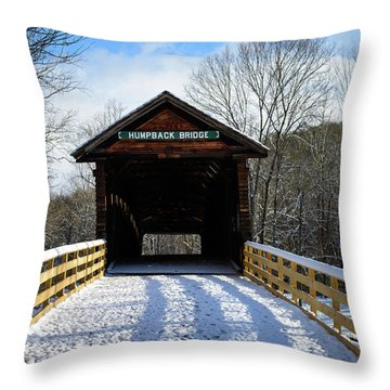 Over The River And Through The Bridge Throw Pillow