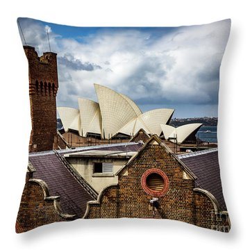Throw Pillow featuring the photograph Over The Roof Tops by Perry Webster