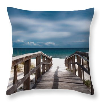 Over The Sand Throw Pillow