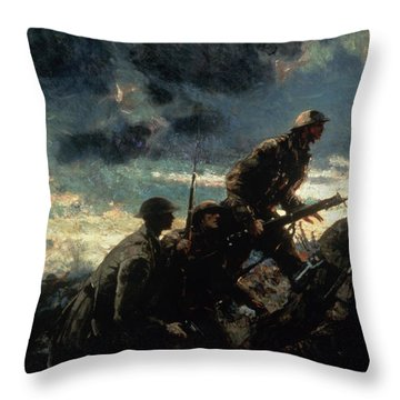 Over The Top Throw Pillow by Alfred Bastien