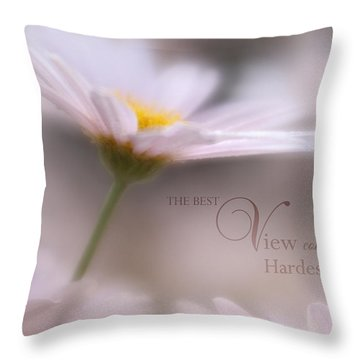 Over The Top With Message Throw Pillow