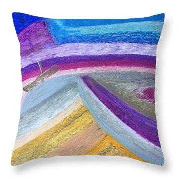 Over The Waves Throw Pillow