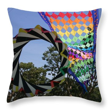 Throw Pillow featuring the photograph Over Under Sideways Down by Marie Neder