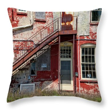 Throw Pillow featuring the photograph Over Under The Stairs by Christopher Holmes