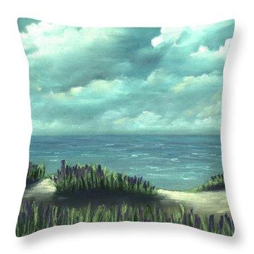 Throw Pillow featuring the painting Overcast by Anastasiya Malakhova