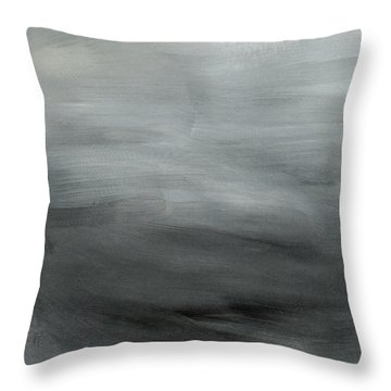 Overcast Morning- Abstract Art By Linda Woods Throw Pillow
