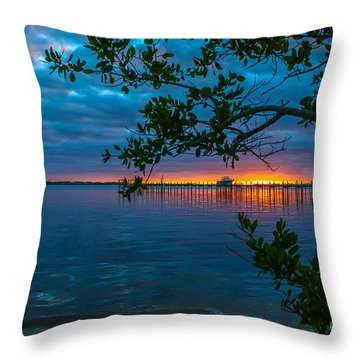 Throw Pillow featuring the photograph Overcast Sunrise by Tom Claud