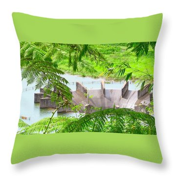 Overflow Release Throw Pillow