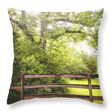 Throw Pillow featuring the photograph Overgrown by Shelby Young