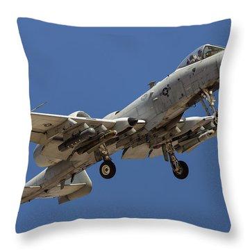 Overhead Hog Throw Pillow