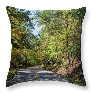 Throw Pillow featuring the photograph Overhill Skyway by John M Bailey