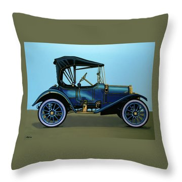 Overland 1911 Painting Throw Pillow by Paul Meijering