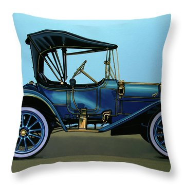 Overland 1911 Painting Throw Pillow