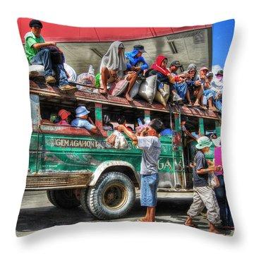 Overload Throw Pillow by Yhun Suarez