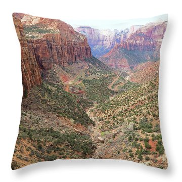 Overlook Canyon Throw Pillow