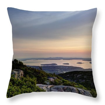 Overlooking Bar Harbor Throw Pillow