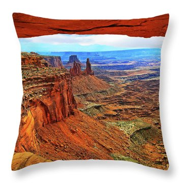 Throw Pillow featuring the photograph Overlooking Canyonlands National Park    Moab Utah by Gary Baird