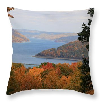 Overlooking Kinzua Lake Throw Pillow