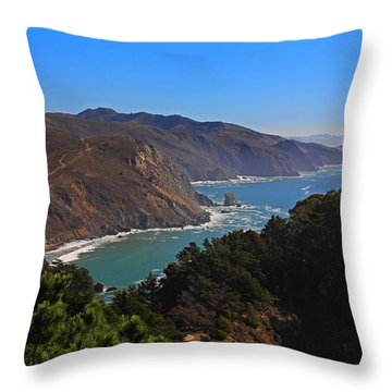 Overlooking Marin Headlands Throw Pillow