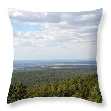 Overlooking Pinetop Throw Pillow