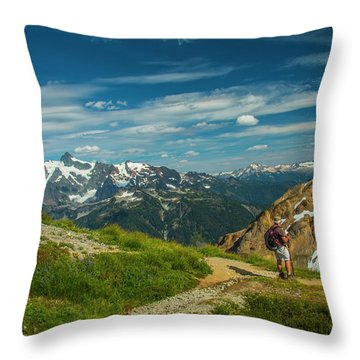 Overlooking Shuksan Throw Pillow
