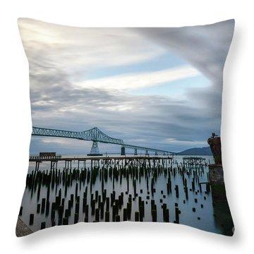 Overlooking The Bridge Throw Pillow