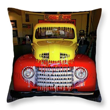 Overpainted 1950 Ford Pickup Throw Pillow