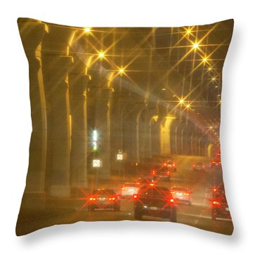 Throw Pillow featuring the photograph Overpass Traffic by Linda Phelps