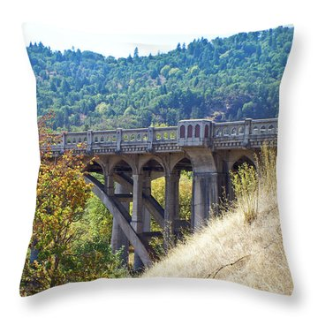 Overpass Underpinnings Throw Pillow