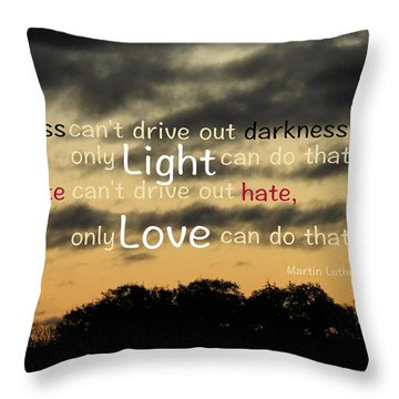 Overpowering Hate Throw Pillow by David Norman