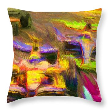 Overtaking Throw Pillow