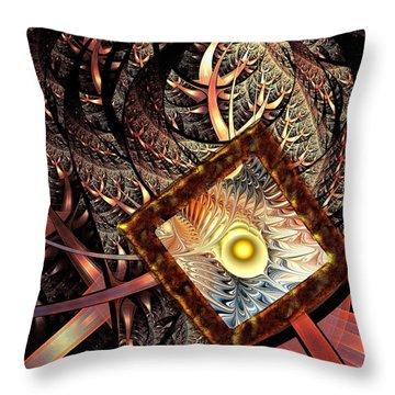 Throw Pillow featuring the digital art Overton Window by Anastasiya Malakhova