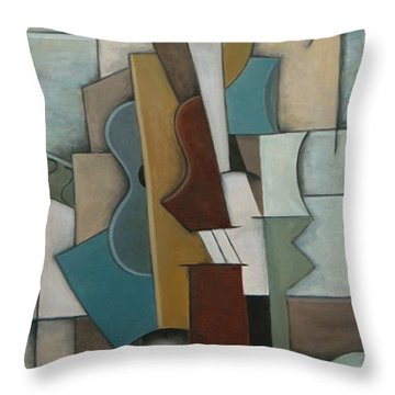 Overture I Throw Pillow by Trish Toro