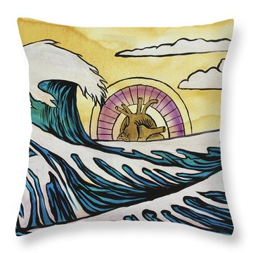 Throw Pillow featuring the painting Overwhelming Love by Nathan Rhoads