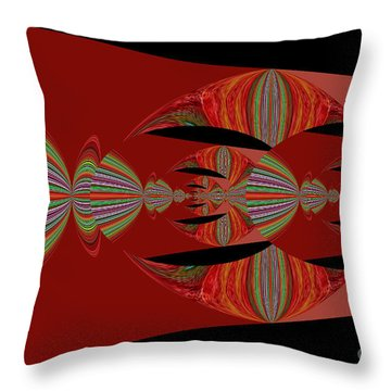 Red Abstract Ovs 26 Throw Pillow