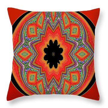 Unique And Colorful Orange Black Yellow Design Throw Pillow