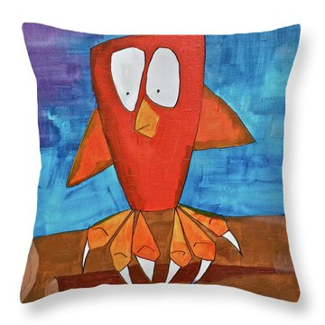 Owel Throw Pillow by Donna Howard