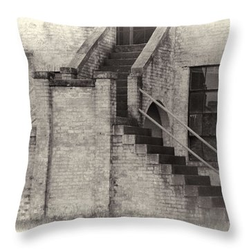 Throw Pillow featuring the photograph Owens Field Historic Curtiss-wright Hangar by Steven Richardson